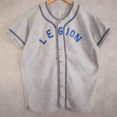 "画像1: 40's〜50's ""LEGION"" Frannel Baseball shirt (1)"