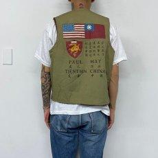"""画像6: 40's demotex ed """"Blood Chit"""" Deck Vest SIZE 42 (6)"""