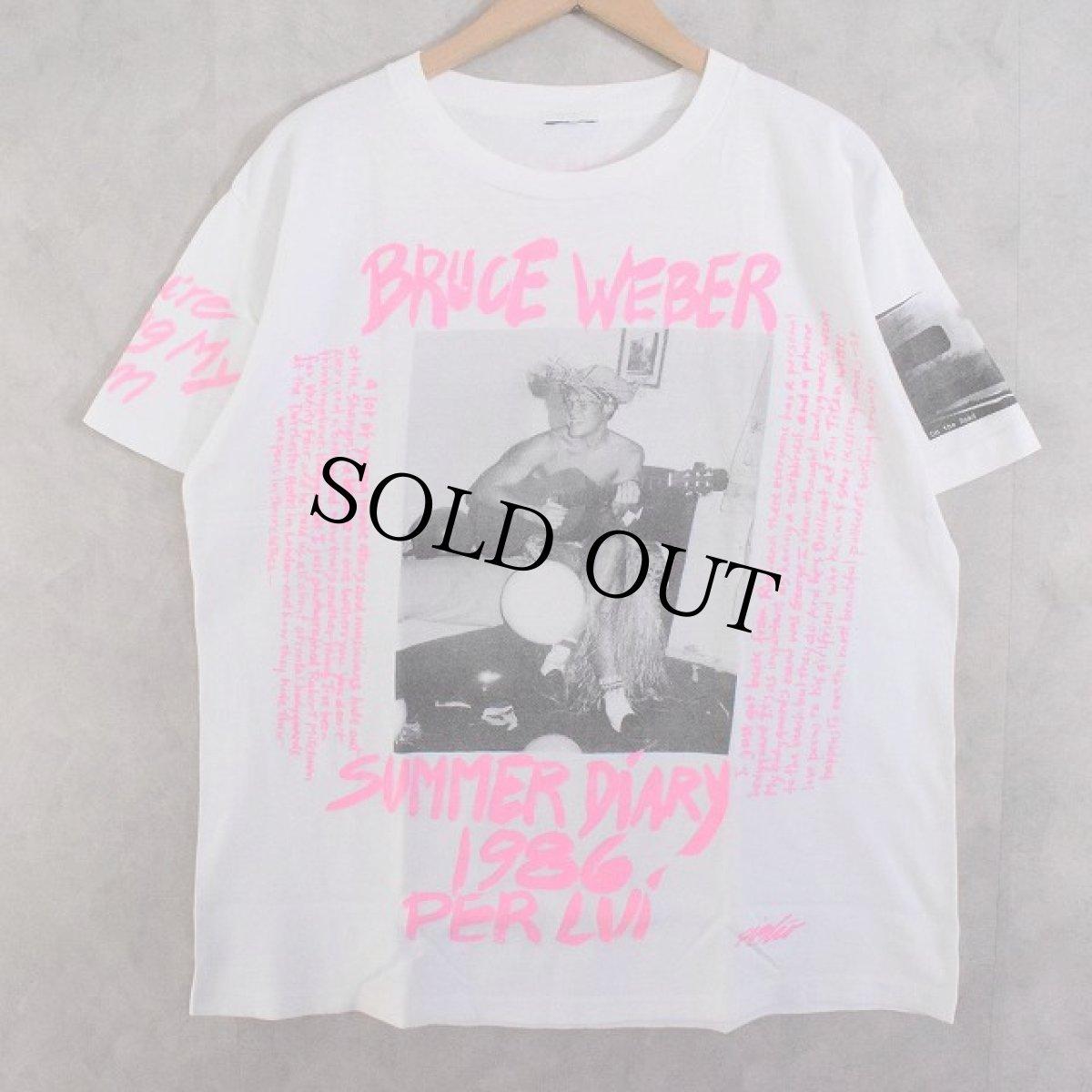 """画像1: 80's BRUCE WEBER """"SUMMER DIARY 1986 PER LUI"""" T-shirts (1)"""