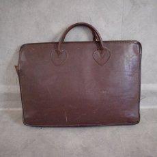 """画像2: 60〜70's L.L.Bean """"Vacuumand"""" Leather Handle Bag (2)"""