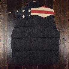 画像2: 【SALE】 Ralph Lauren DENIM&SUPPLY 星条旗柄 中綿ウエスタンヨークべスト L (2)
