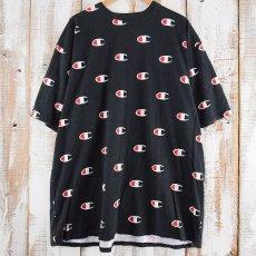 画像1: 【SALE】 Champion 総柄ロゴTシャツ 2XL (1)