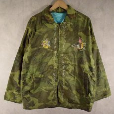 """画像2: 60's """"AN KHE VIET NAM"""" キルティングカモ Vietnam Souvenir Jacket (2)"""