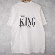 """画像2: ▼【SALE】 90's THE KING LIVES USA製 """"ELVIS """"ミュージシャンTシャツ XL (2)"""