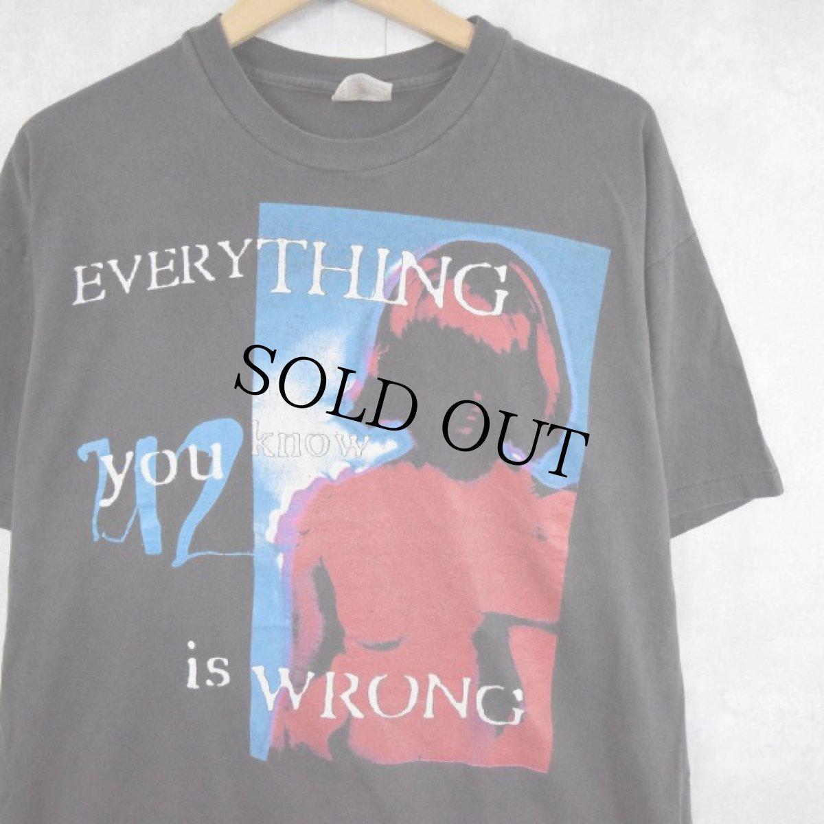 """画像1: 90's U2 USA製 """"Everything You Know Is Wrong"""" ロックバンドTシャツ XL (1)"""
