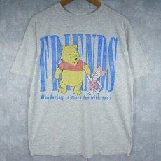 画像1: 90's〜 Disney くまのプーさん キャラクタープリントTシャツ (1)
