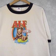 """画像1: 2000's ALF """"SPONGES SUCK!"""" テレビドラマプリントリンガーTシャツ 2XL (1)"""