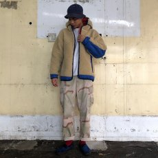 "画像3: COMFY OUTDOOR GARMENT ""RABBIT HOODIE"" BEIGE×BLUE 【L】 (3)"