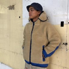 "画像12: COMFY OUTDOOR GARMENT ""RABBIT HOODIE"" BEIGE×BLUE 【L】 (12)"
