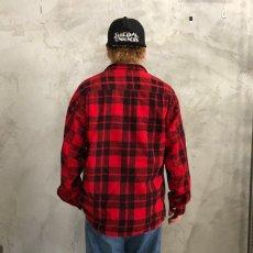 画像4: 【SALE】 60's Leesure Wear by Lee チェック柄 プリントネル ボックスシャツ (4)