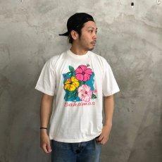 画像1: 【価格を見直しました】  80's ハイビスカスTシャツ (1)