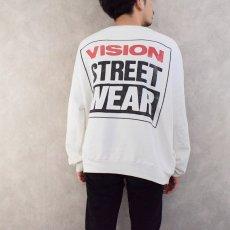 画像4: 80's VISION STREET WEAR スケートブランド ポケ付きスウェット (4)