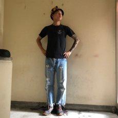 画像5: 【価格を見直しました】 90's C.B.H.C USA製 スカル バイカーTシャツ (5)