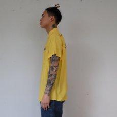 画像5: 50's〜60's Hilton パッチ付き チェーンステッチボーリングシャツ (5)