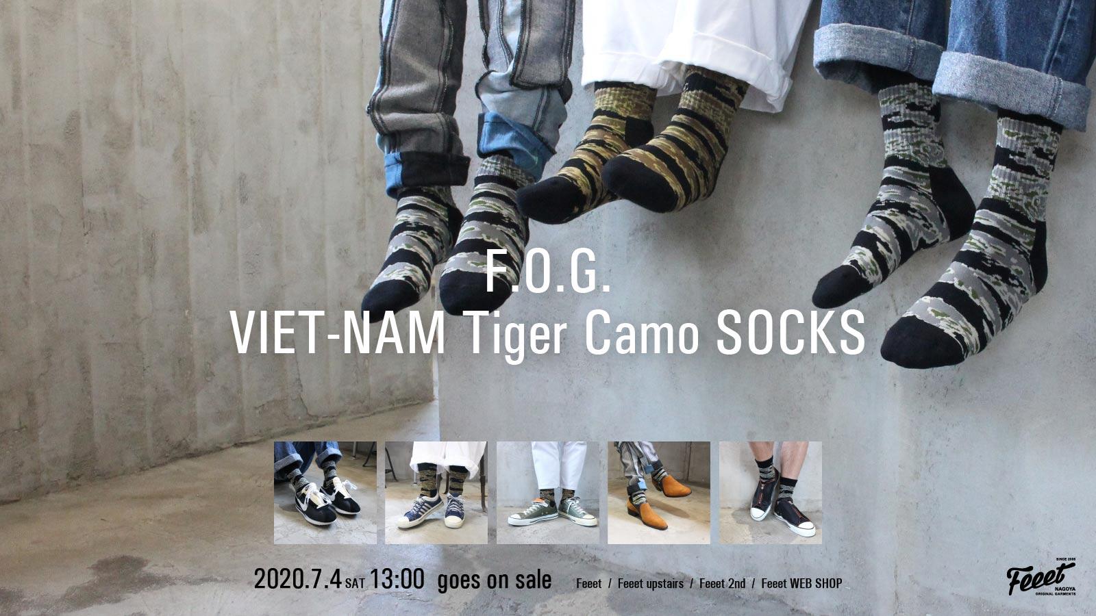 F.O.G. VIET-NAM Tiger Camo SOCKS 20200704