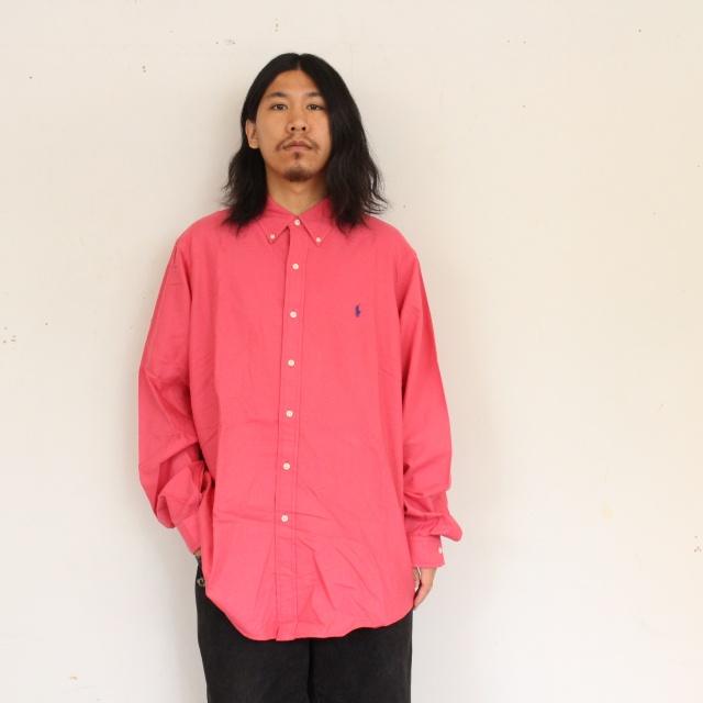 画像1: Ralph Lauren ボタンダウンコットンシャツ XL (1)