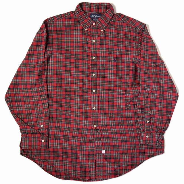 画像1: 【価格を見直しました】  Ralph Lauren チェック柄ボタンダウンシャツ  BIG SIZE (1)