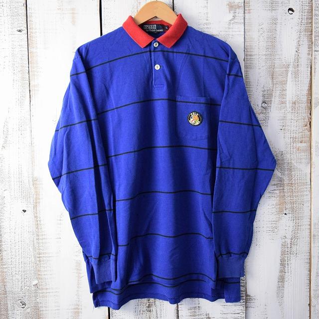 画像1: 90's Ralph Lauren USA製クッキーパッチポロシャツ (1)