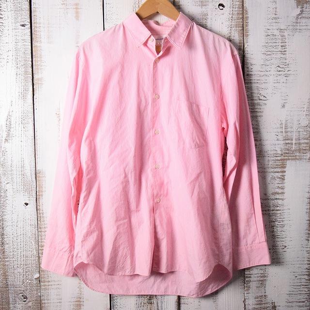 画像1: COMME des GARCONS ストライプ柄切り替えシャツ (1)
