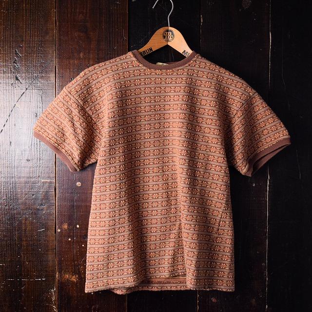 画像1: ENGLAND製 ジャガードTシャツ (1)