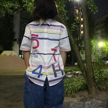 画像1: TOMMY HILFIGER ナンバリング コットンシャツ (1)