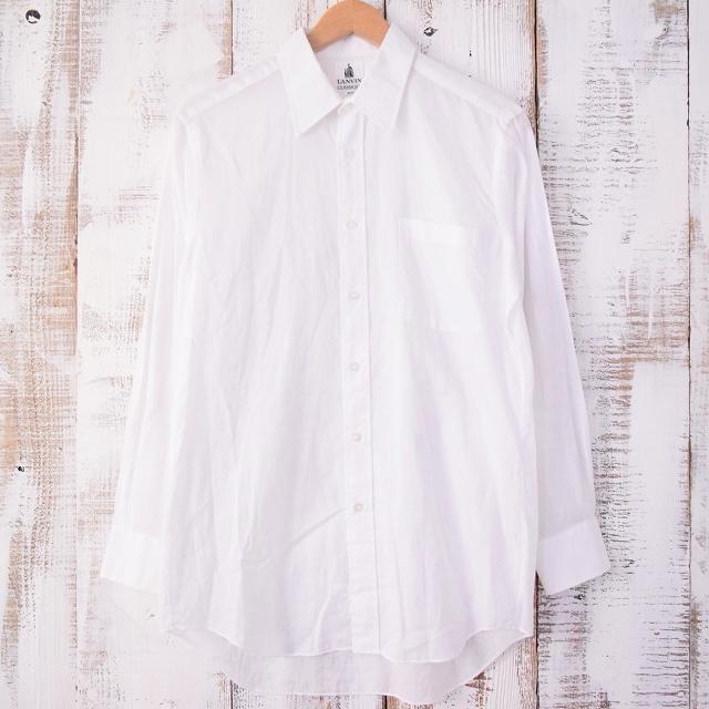 画像1: 【価格を見直しました】  LANVIN コットンシャツ (1)