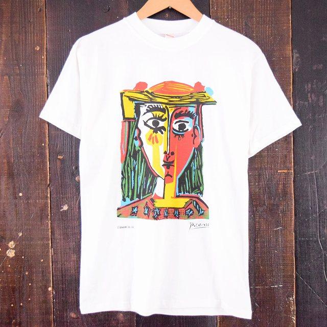 画像1: 90's スペイン製 Picasso プリントTシャツ DEADSTOCK (1)