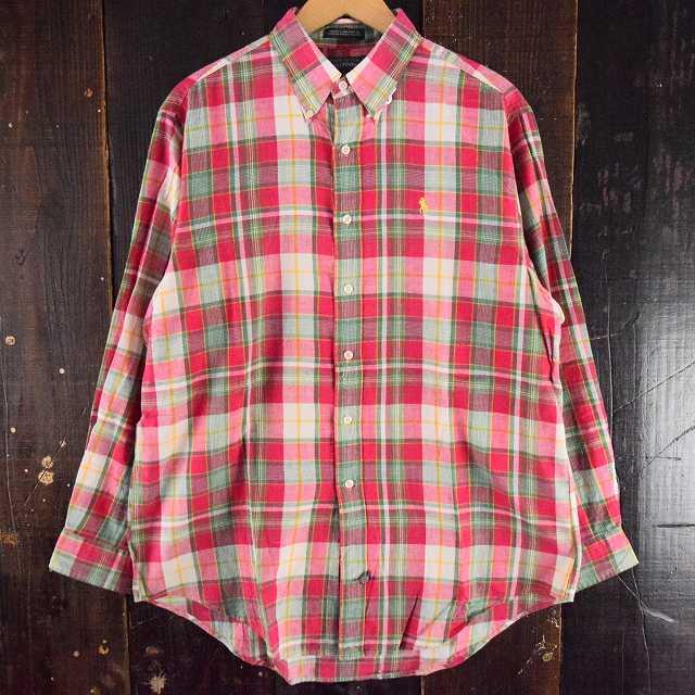 画像1: 【20%OFF】 90's Ralph Lauren POLO COUNTRY チェック柄ボタンダウンシャツ (1)