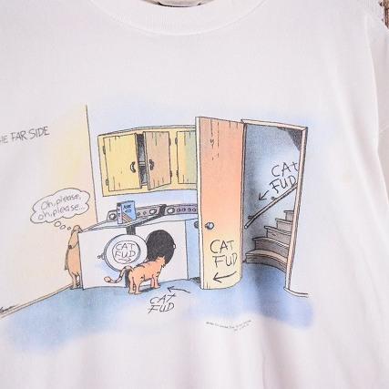 90sgarylarson The Far Side ねこいぬ ファニーイラストtシャツ 90年代