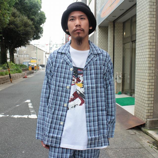 画像1: Ralph Lauren チェック柄オープンカラーシャツ&イージーパンツ DEADSTOCK-SETUP (1)
