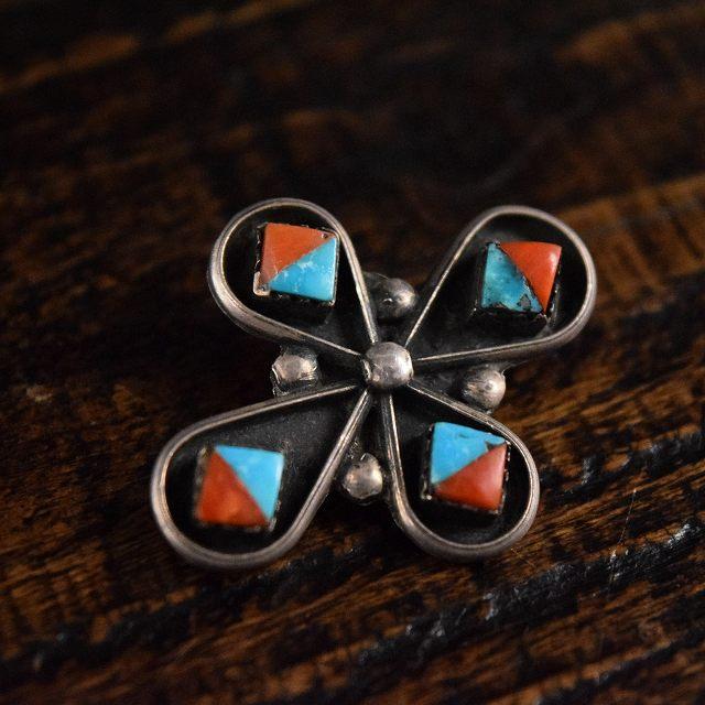 画像1: VINTAGE Turquoise Silver Pins (1)
