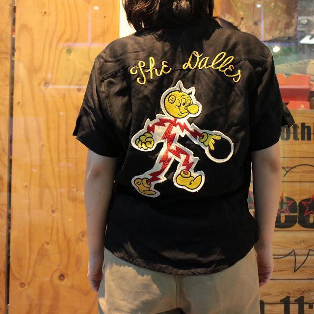 50's レディ・キロワット ボーリングシャツ 50年代 ブラック REDDY ...