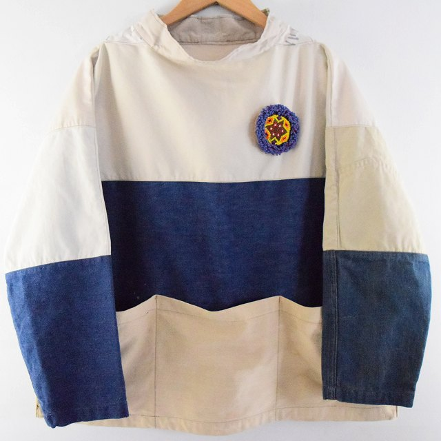 "画像1: Feeet ORIGINAL GARMENTS ""SEAMANS SMOCK"" アフガンワッペン付き (1)"