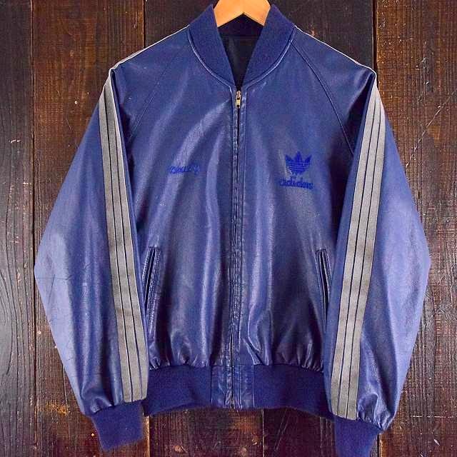 画像1: 1980's adidas レザートラックブルゾン M位 (1)