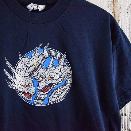 """画像1: 【価格を見直しました】 90's Lee """"メカキングギドラ"""" USA製 映画Tシャツ (1)"""