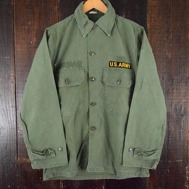 画像1: 60's US.ARMY ユーティリティシャツ 2nd 後期 パッチ付き (1)