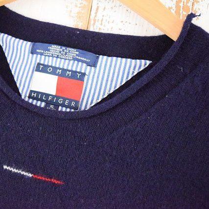 画像1: 90's TOMMY HILFIGER ロールネックウールニットセーター XL (1)