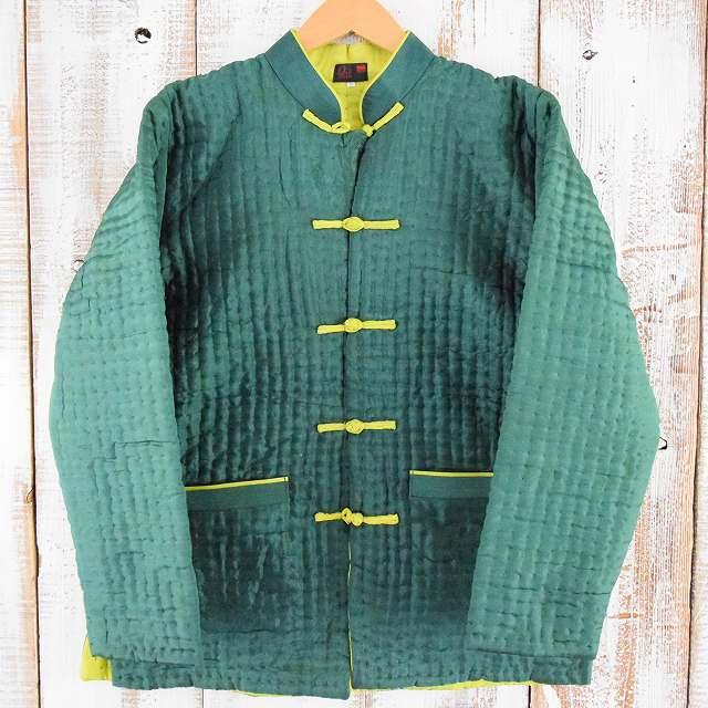 画像1: キルティングカンフーシャツジャケット L DEADSTOCK (1)