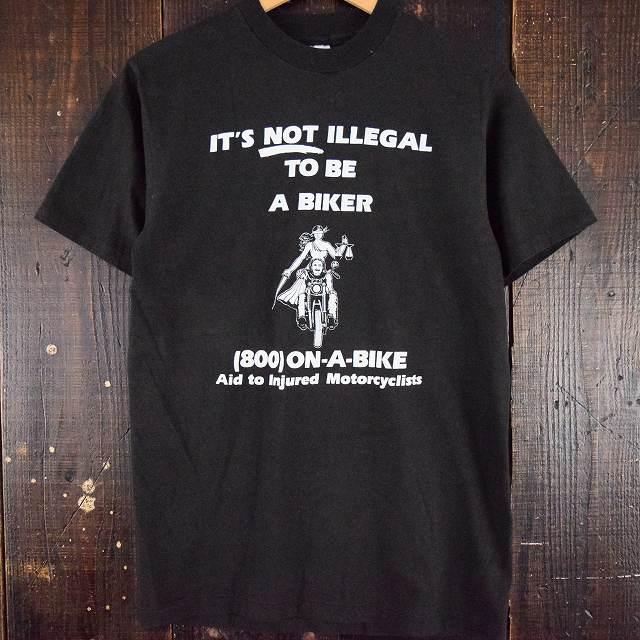画像1: 90's IT'S NOT ILLEGAL TO BE A BIKER USA製 バイカーTシャツ (1)