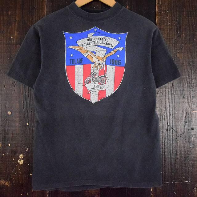 画像1: 80's UNITED STATE MOTORCYCLE JAMBOREE USA製 バイカーTシャツ (1)