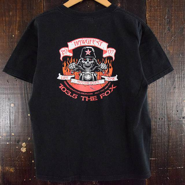 画像1: 2000's HAWGFEST バイカーTシャツ (1)