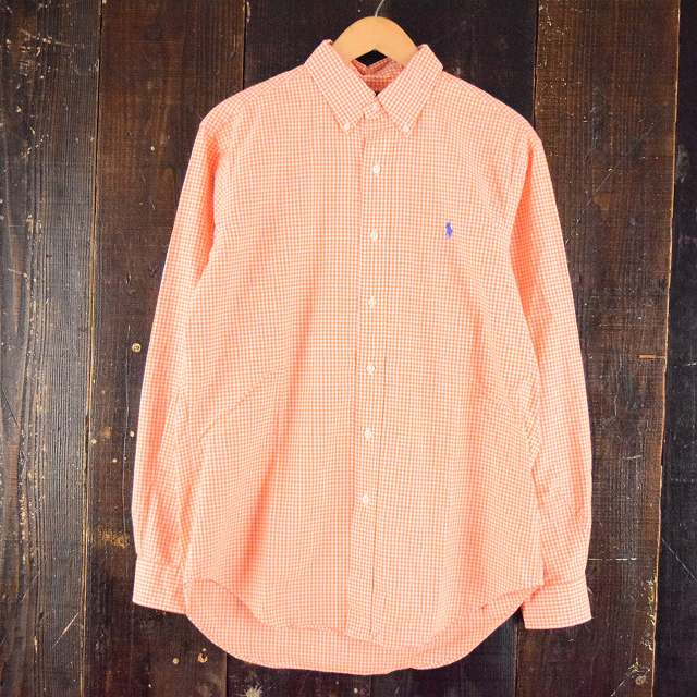 画像1: 【20%OFF】 Ralph Lauren ギンガムチェック柄ボタンダウンコットンシャツ (1)