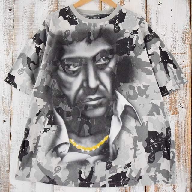 画像1: 【価格を見直しました】 〜2010's SCARFACE 映画Tシャツ 2XL (1)