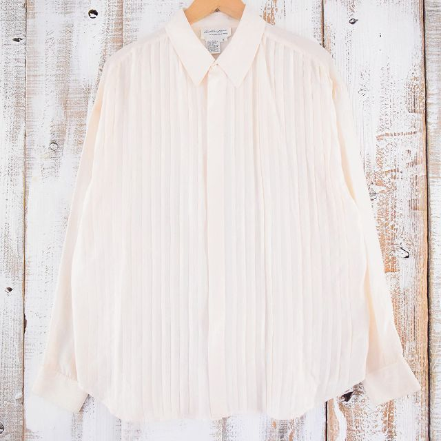 画像1: デザインシルクシャツ S (1)