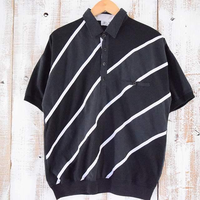 画像1: ストライプ柄 切り替えシャツ (1)