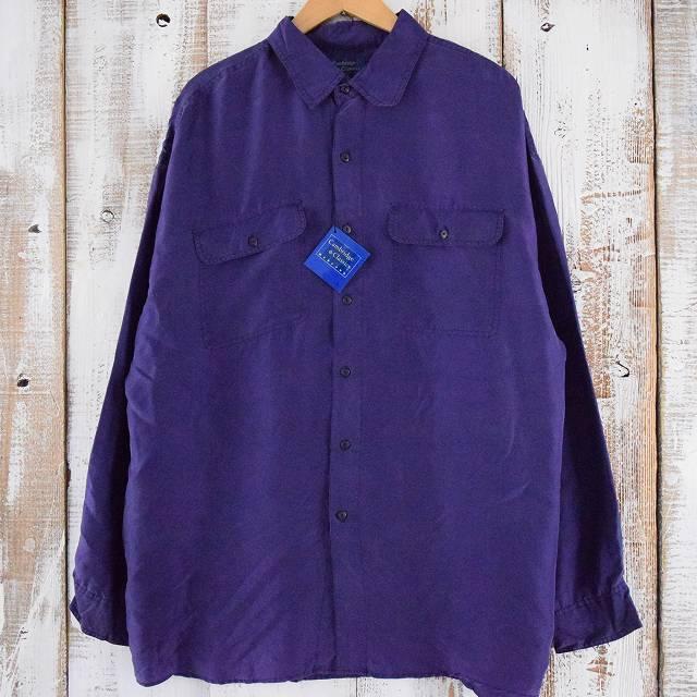 画像1: カラーシルクシャツ タグ付き 未使用品  (1)