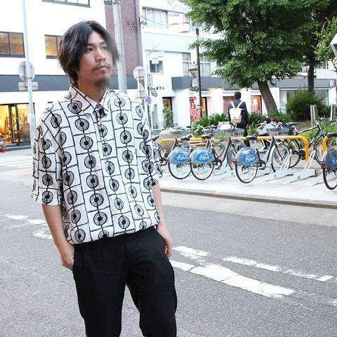 画像1: 総柄プルオーバーシャツ XL (1)