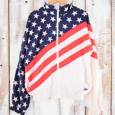 画像1: SPEEDO アメリカ国旗柄 ナイロンジャケット (1)