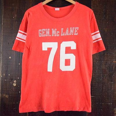 """画像1: 70's Champion """"GEN. Mc LANE"""" フットボールWIN Tシャツ (1)"""