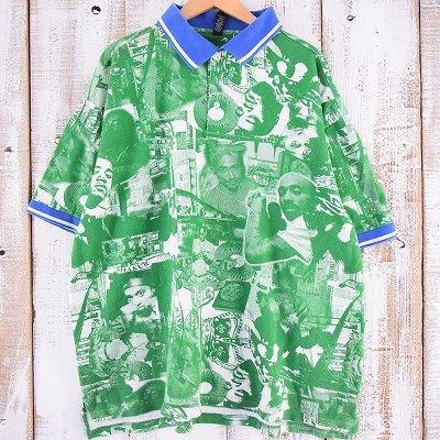 画像1: 2Pac 総柄ポロシャツ 3X (1)